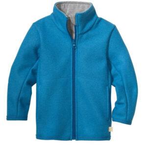 disana jacke kinder zipper jacke wolle sommer blau