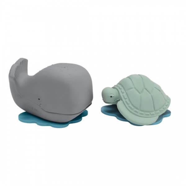hevea badespielzeug plastikfrei wal schildkröte