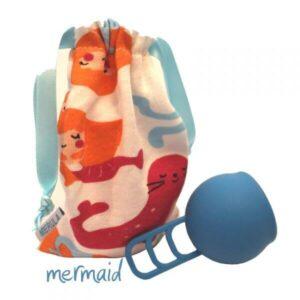merula cup menstruationstasse blau