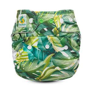 doodush überhose one size druckie snap green leaves palms grün