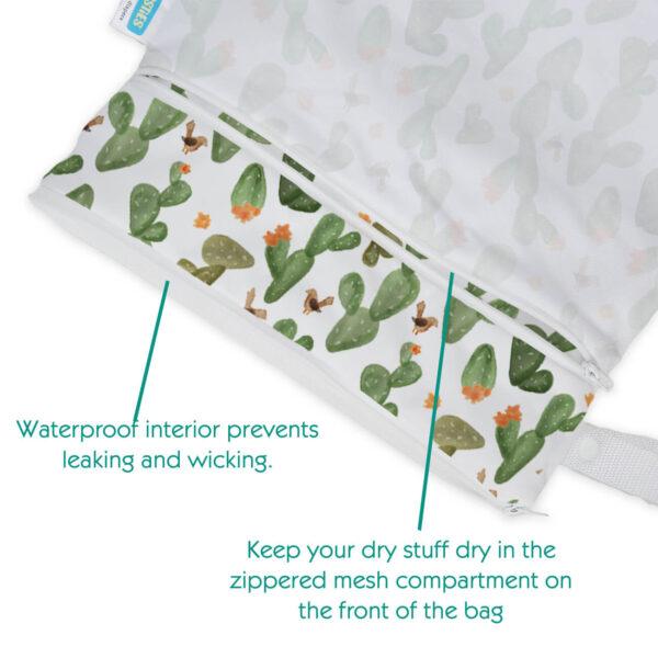 thirsties wet dry wetbag doppelfach reissverschluss