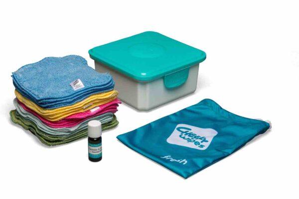 cheeky wipes mini kit waschlappen bio rainbow