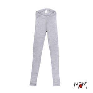 manymonths leggings mama frauen wolle grau